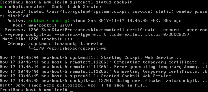 Monitorando servidores no Linux com o Cockpit