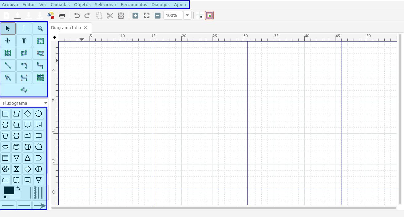 Dia Diagram Editor: Um programa para criar diagramas e grafos