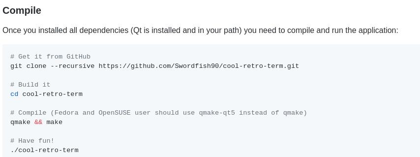 Como instalar o Cool Retro Term?