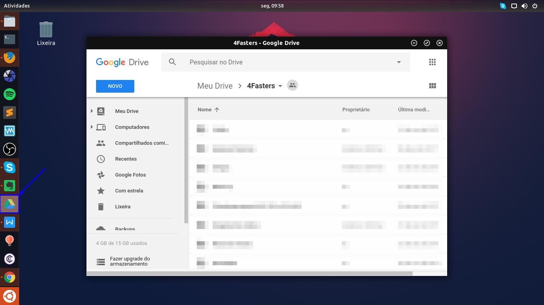 Utilizando o Google Drive nativamente no Linux