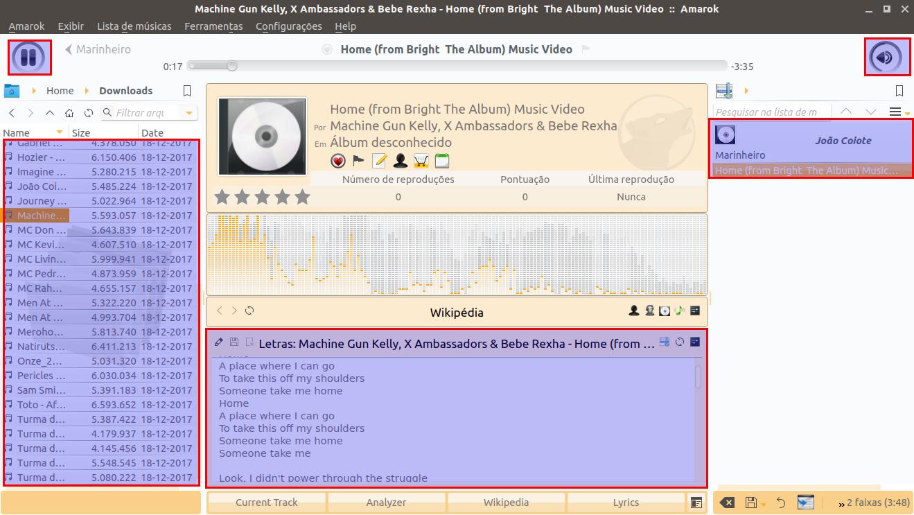 Cansado do Rhythmbox? Conheça o player de música Amarok