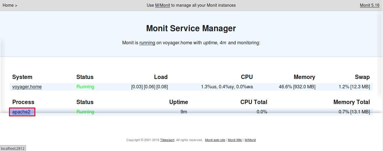 Monitorando seu equipamento com o Monit