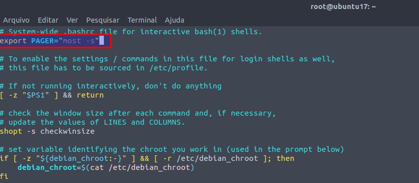 Como deixar o comando man colorido no Linux