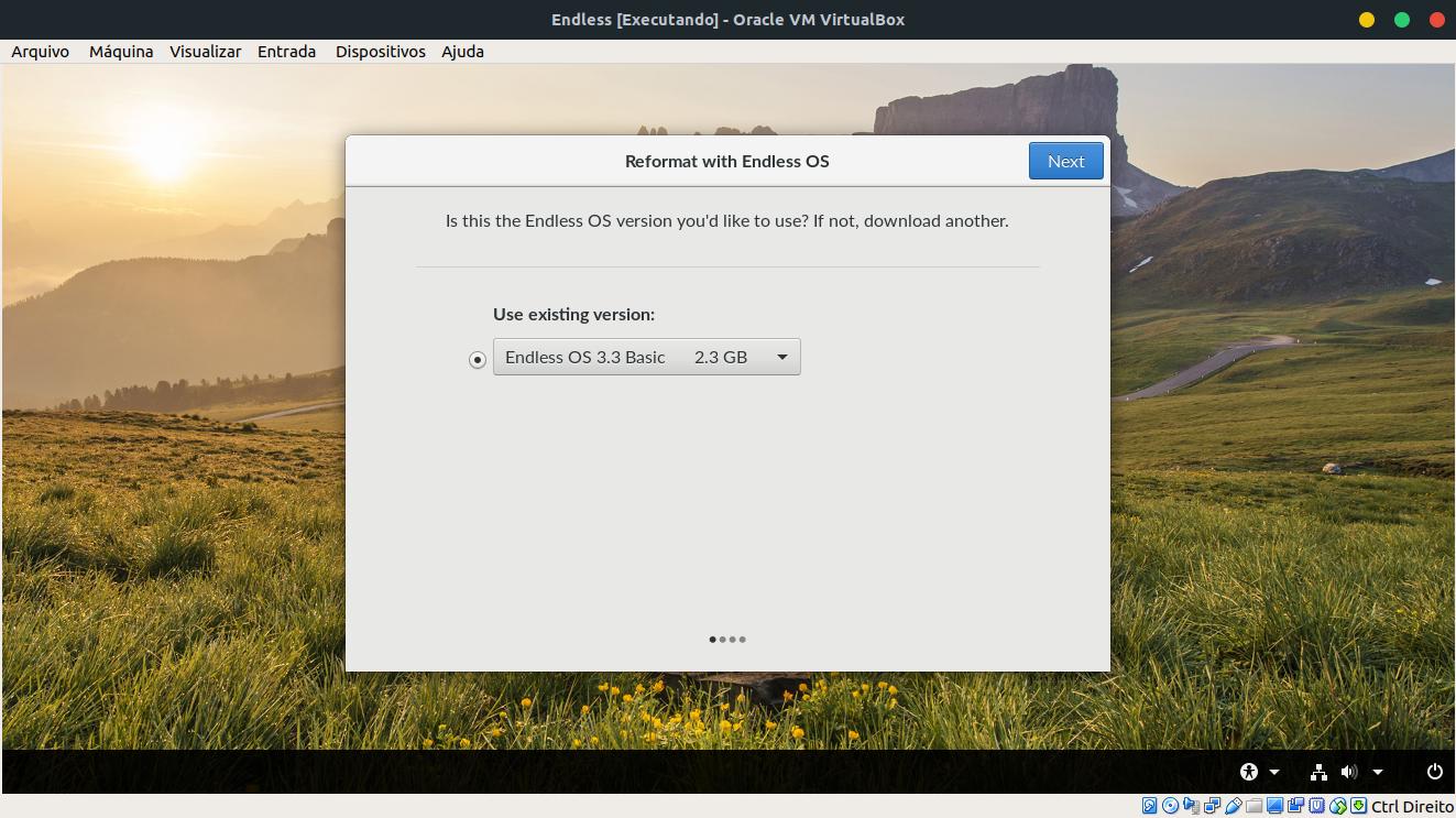 Análise da distribuição Linux Endless OS