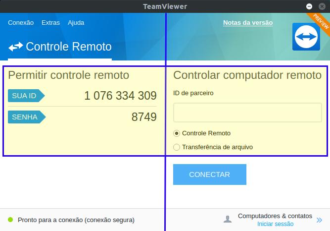Acesso remoto GRÁFICO com o TEAMVIEWER no LINUX