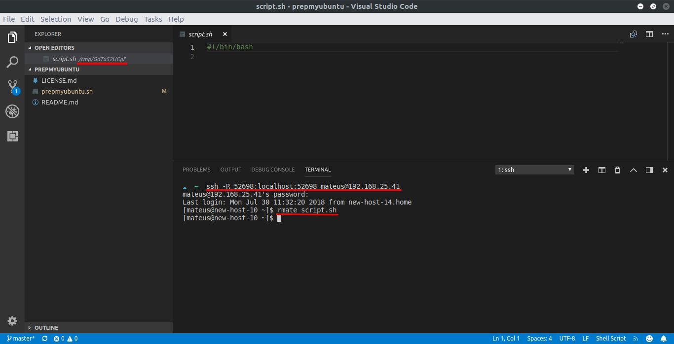 Editando arquivos remotamente com o Visual Studio Code