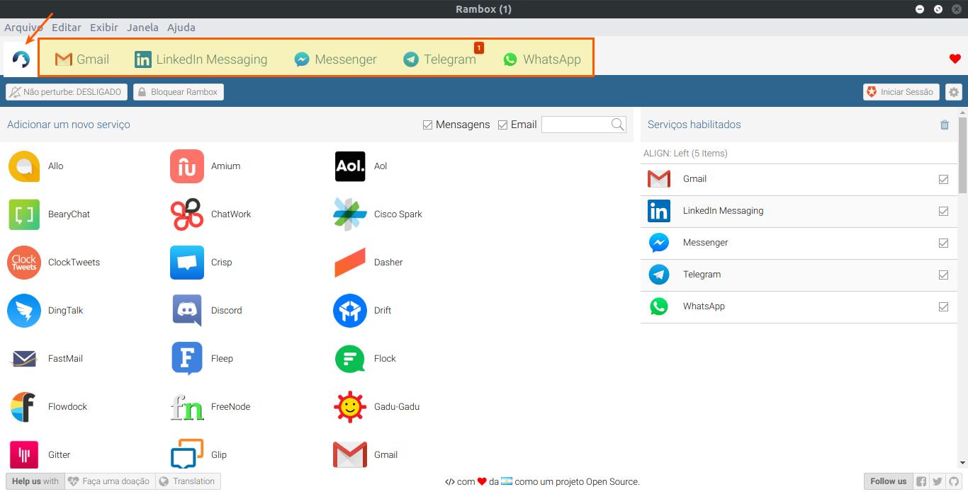 Rambox: Coloque WhatsApp, Facebook e muito mais em somente um lugar!