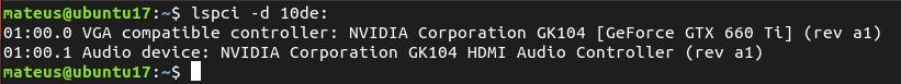 lspci: Informações do BARRAMENTO PCI no Linux